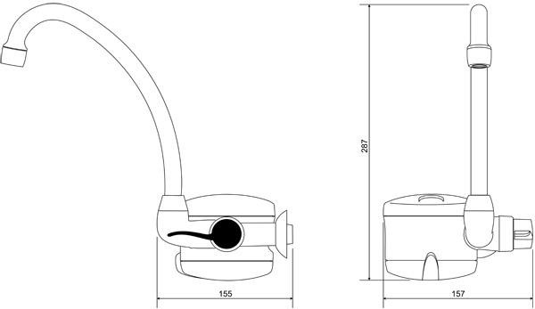 Torneira Elétrica Lorenzetti Loren Easy 220V/5500W Parede  - Casa Mattos