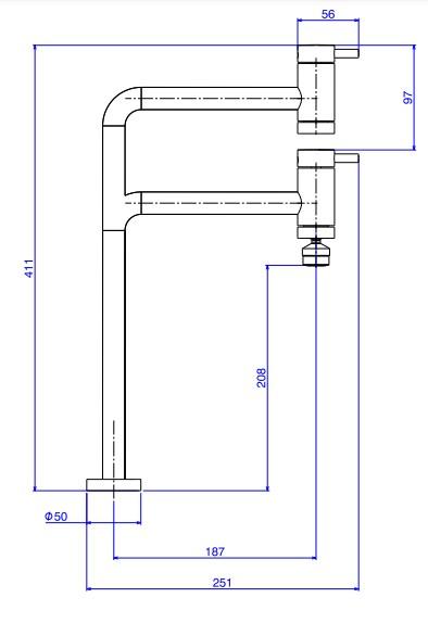 Torneira Deca Link 1169.C.LNK para Cozinha de Mesa Cromado  - Casa Mattos