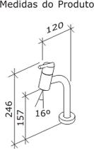Torneira Tigre Metal de mesa Gioia para lavatório  1197-GIO Cromado  - Casa Mattos