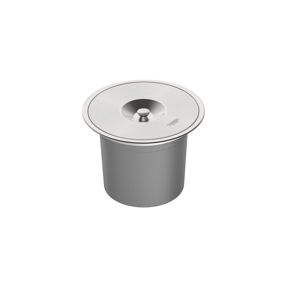 Lixeira de embutir Tramontina Clean Round em Aço Inox com Balde Plástico 94518000 8 L