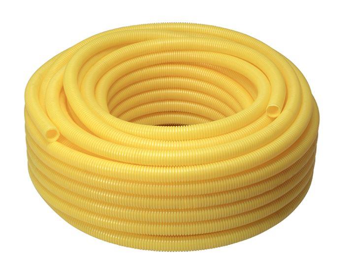 Tubo Eletroduto Krona 25mmx50m PVC Corrugado Flexível Amarelo