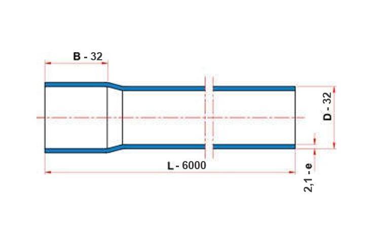 Tubo Tigre Soldável 32mm com 6 Metros  - Casa Mattos