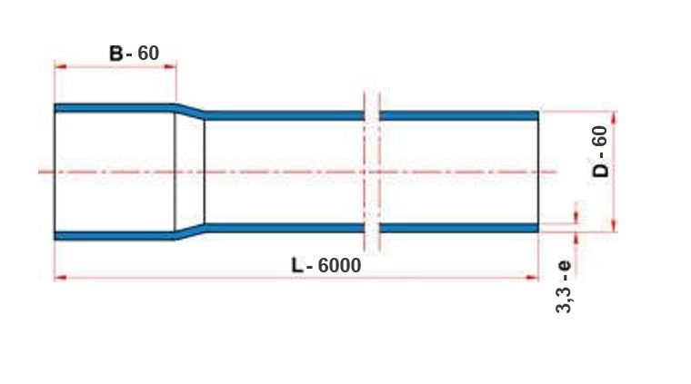 Tubo Tigre Soldável 60mm com 6 metros  - Casa Mattos