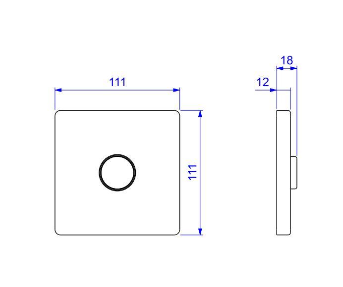 """Válvula de Descarga Deca Hydra Plus 1.1/2""""  2555.C.112 Cromado  - Casa Mattos"""