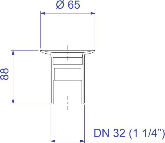 Válvula Deca de Escoamento  para Tanque Sem Ladrão 1605.C.114  - Casa Mattos