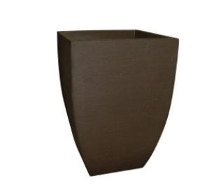 Vaso de Planta Quadrado Moderno - Café