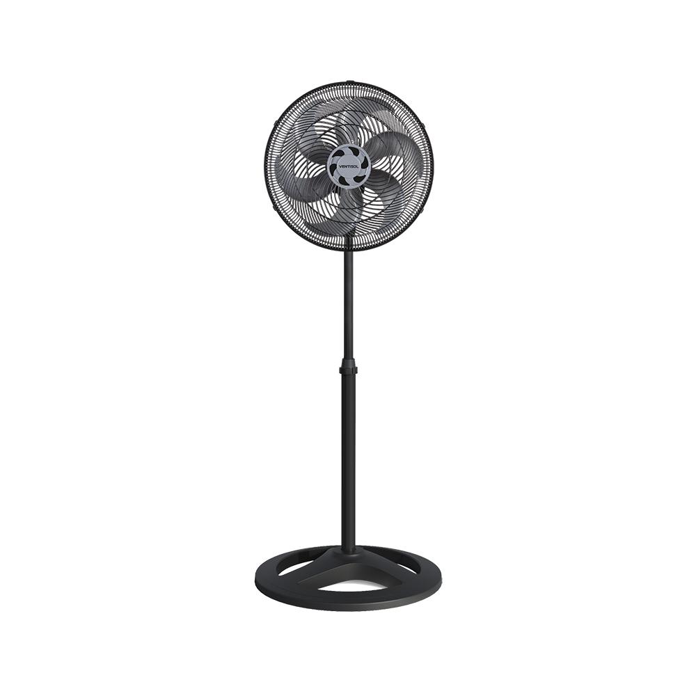 Ventilador Ventisol de Coluna 40cm Turbo 6 Pás 127V Preto  - Casa Mattos