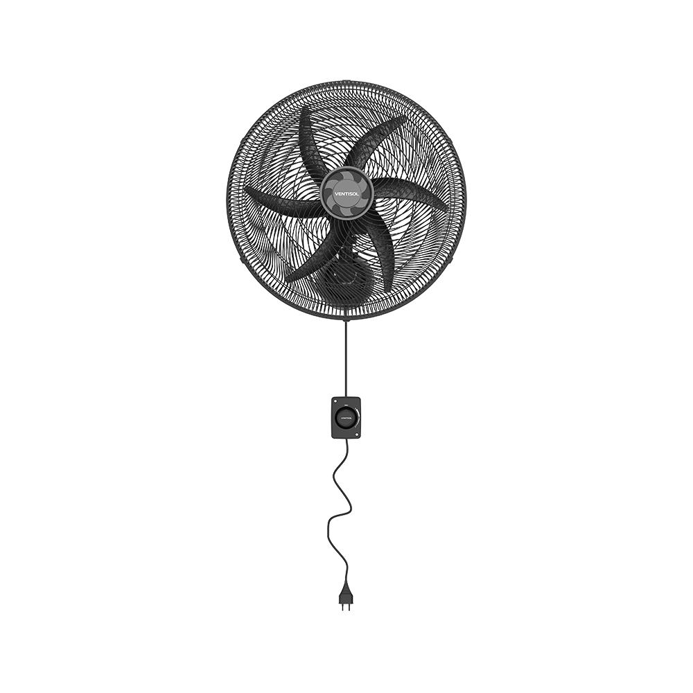 Ventilador Ventisol de Parede Monta Fácil 50cm 220V Preto
