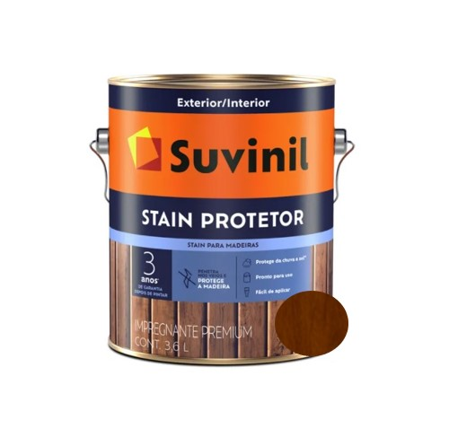 Verniz Suvinil Stain Protetor Acetinado Imbuia Galão 3,6L