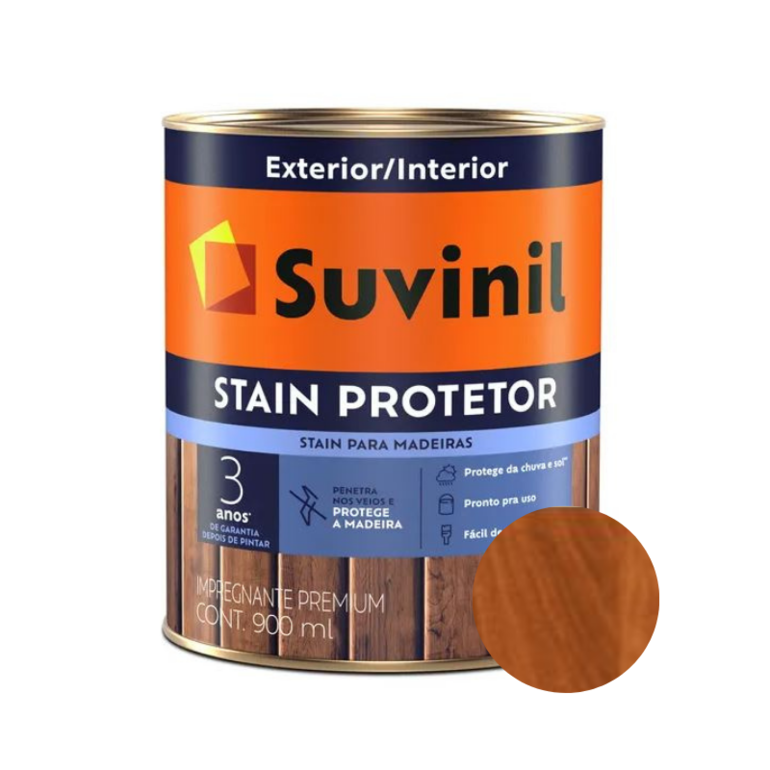Verniz Suvinil Stain Protetor Acetinado Mogno 900ml
