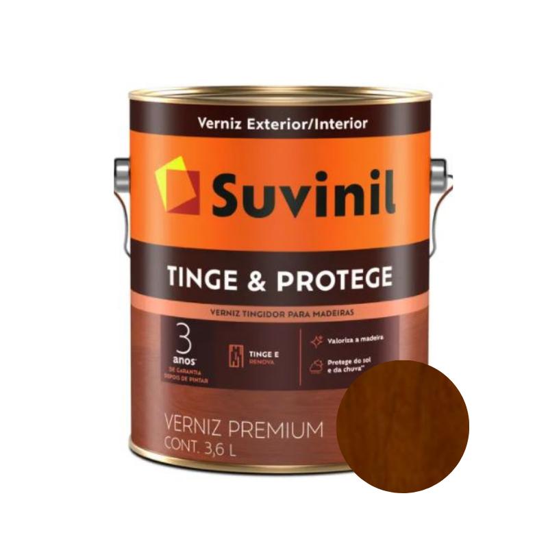 Verniz Suvinil Tinge & Protege Brilhante Imbuia Galão 3,6L