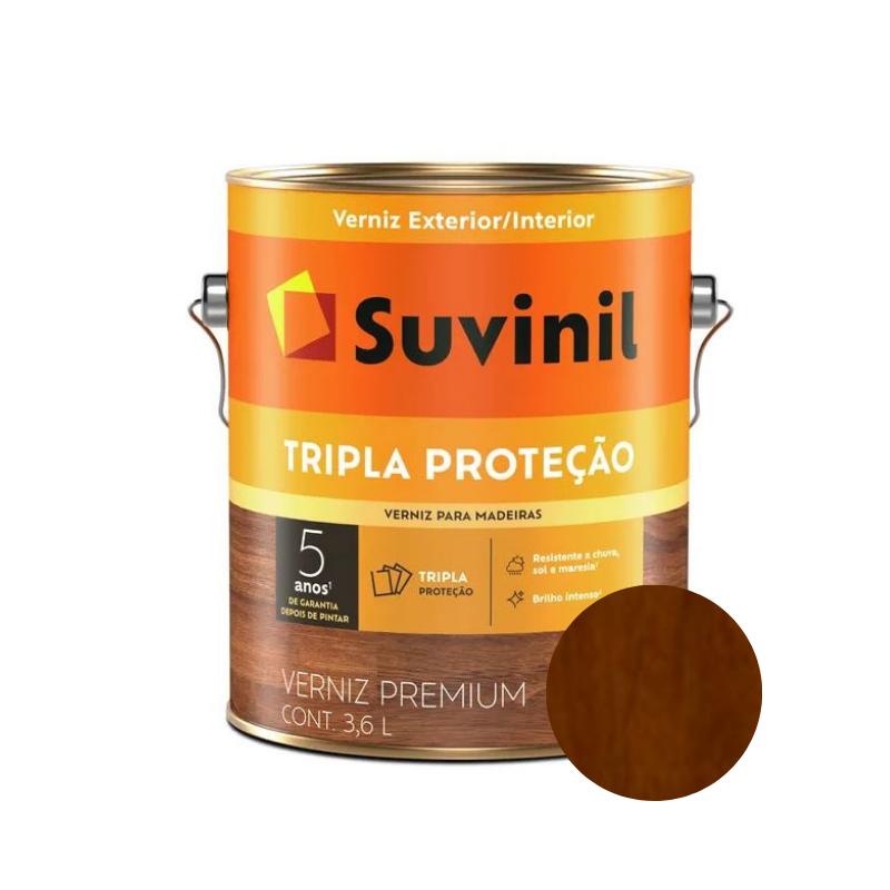 Verniz Suvinil Tripla Proteção Brilhante Imbuia Galão 3,6L