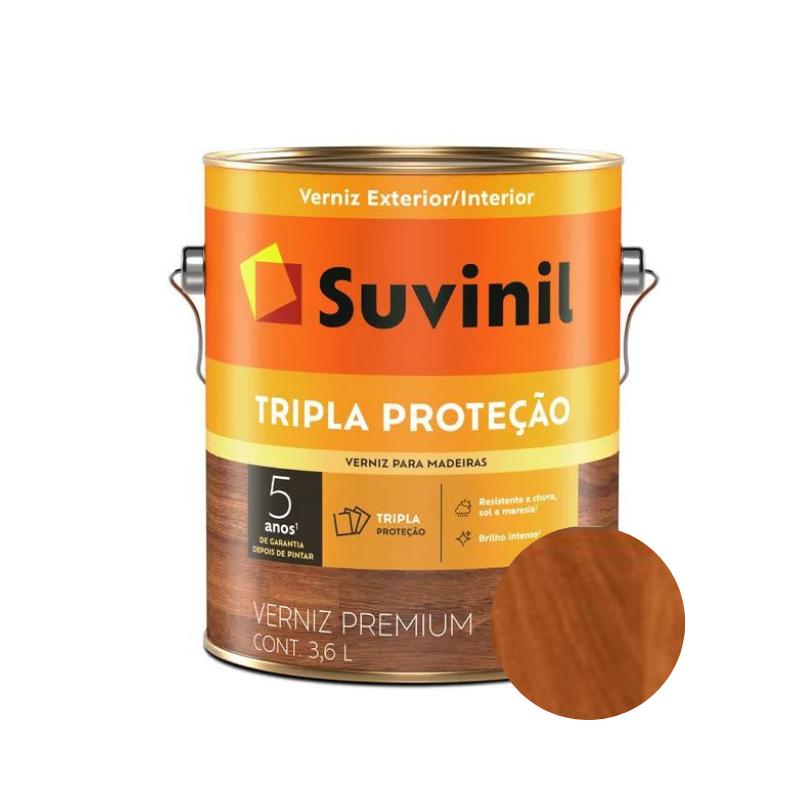 Verniz Suvinil Tripla Proteção Brilhante Mogno Galão 3,6L