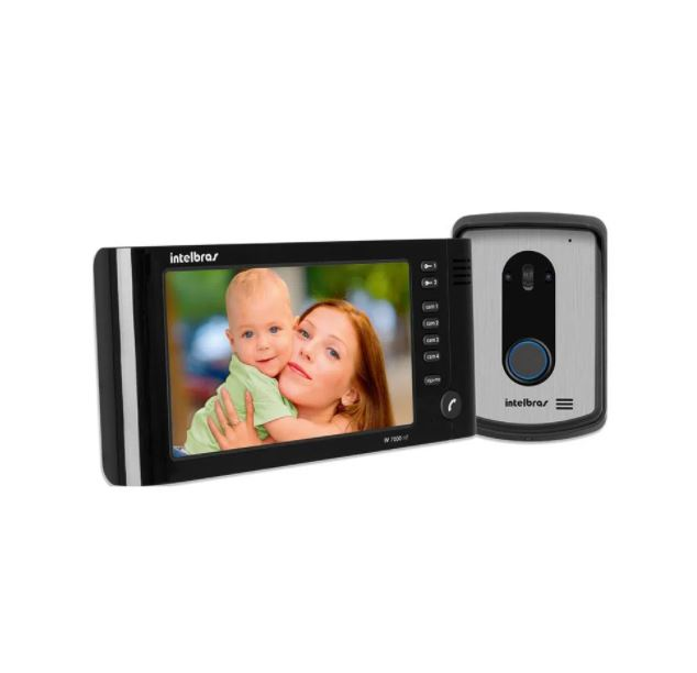 Videoporteiro Intelbras Viva Voz IV 7010 HF Preto  - Casa Mattos
