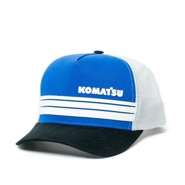 Boné Trucker KOMATSU Stripes Blue