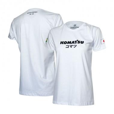 Camiseta Fem. KOMATSU Japan - Branca