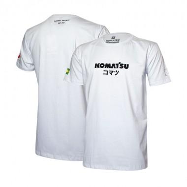 Camiseta Masc. KOMATSU Japan - Branco