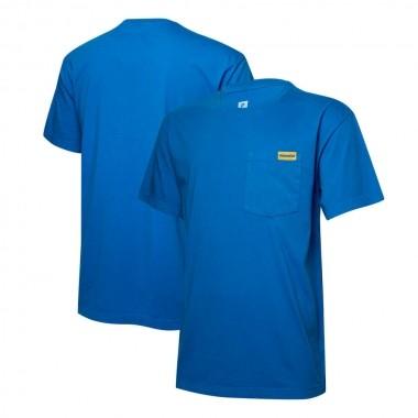 Camiseta Masc. KOMATSU Logo - Azul