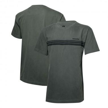 Camiseta Masc. KOMATSU Stripes Lavada - Preta