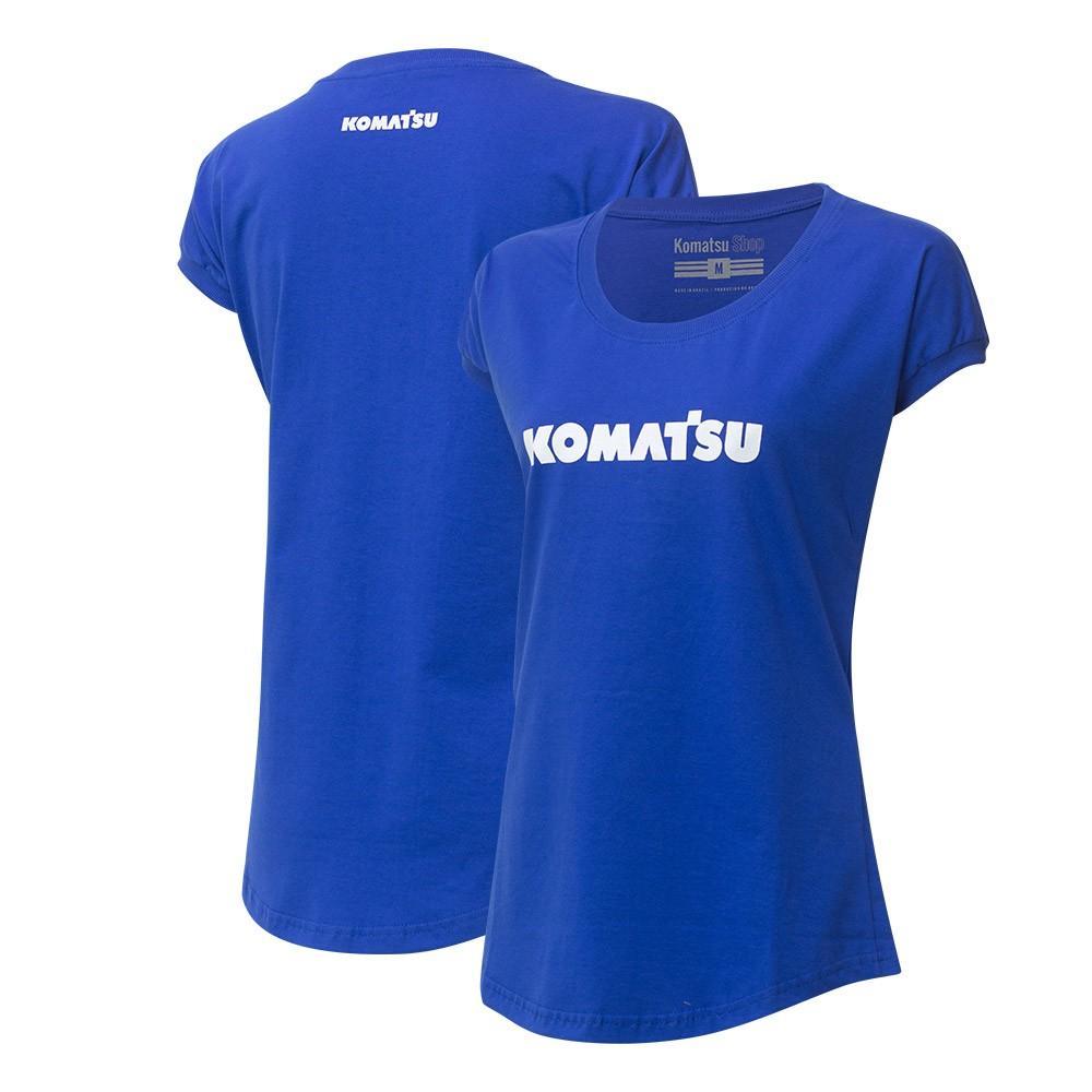 Camiseta Fem. KOMATSU Clássica - Azul