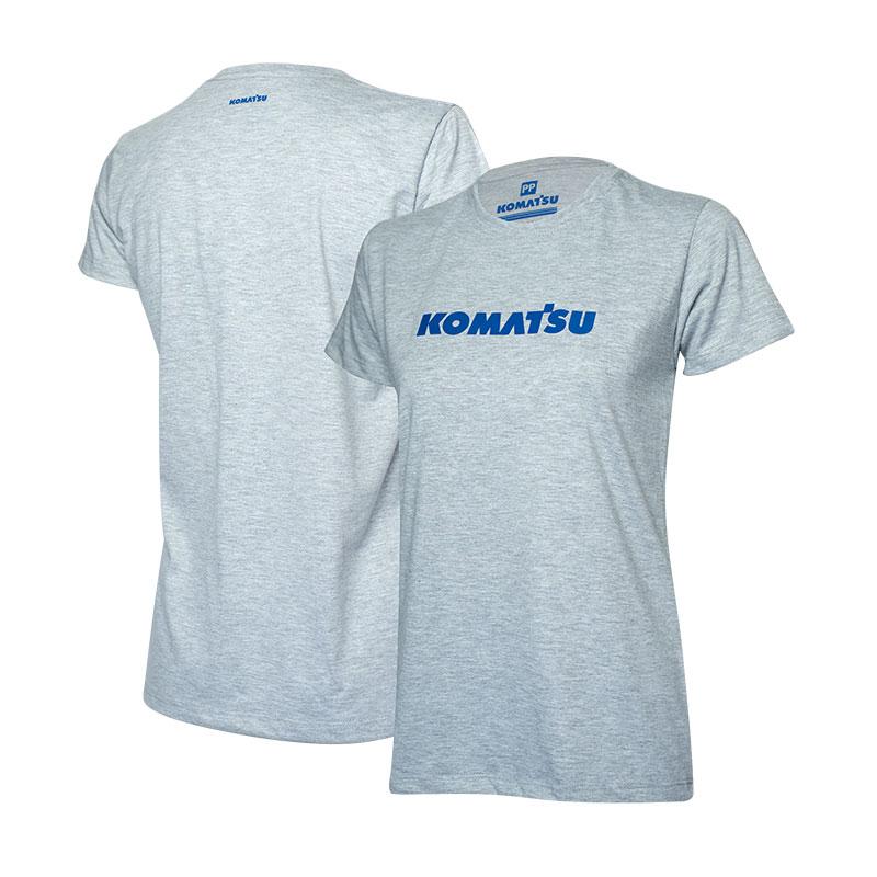 Camiseta Fem. KOMATSU Clássica Cinza Mescla