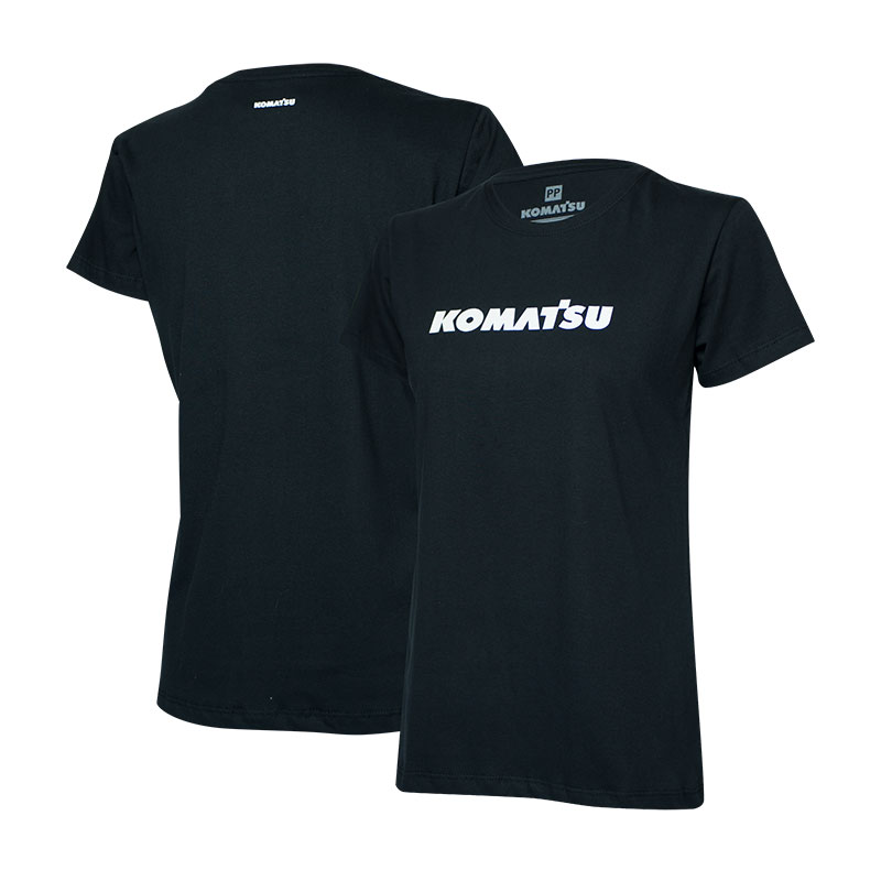 Camiseta Fem. KOMATSU Clássica Preta