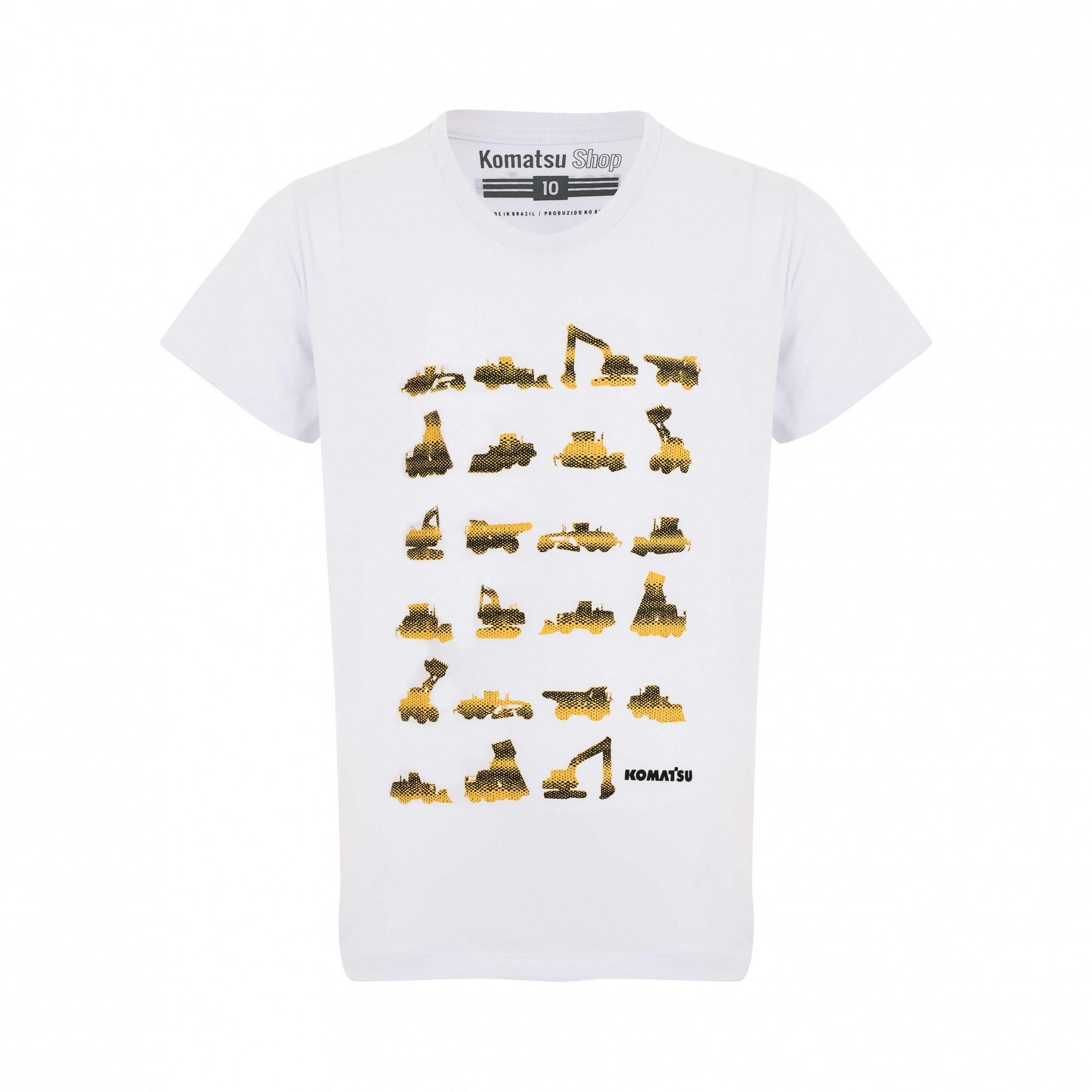 Camiseta Inf. KOMATSU Line Branco