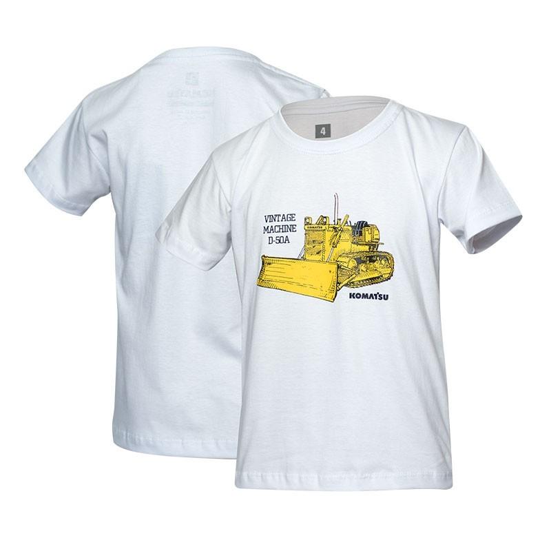 Camiseta Inf. KOMATSU Vintage D50A  Branca