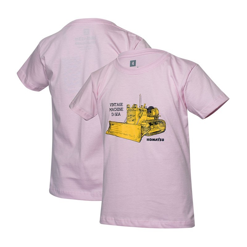 Camiseta Inf. KOMATSU Vintage D50A Rosa