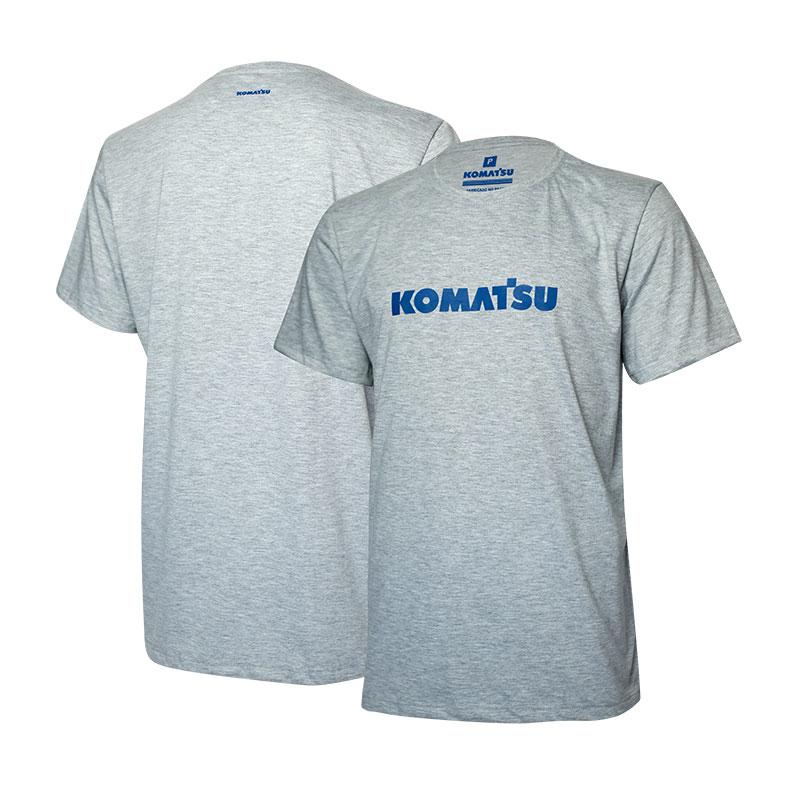 Camiseta Masc. KOMATSU Clássica - Cinza Mescla