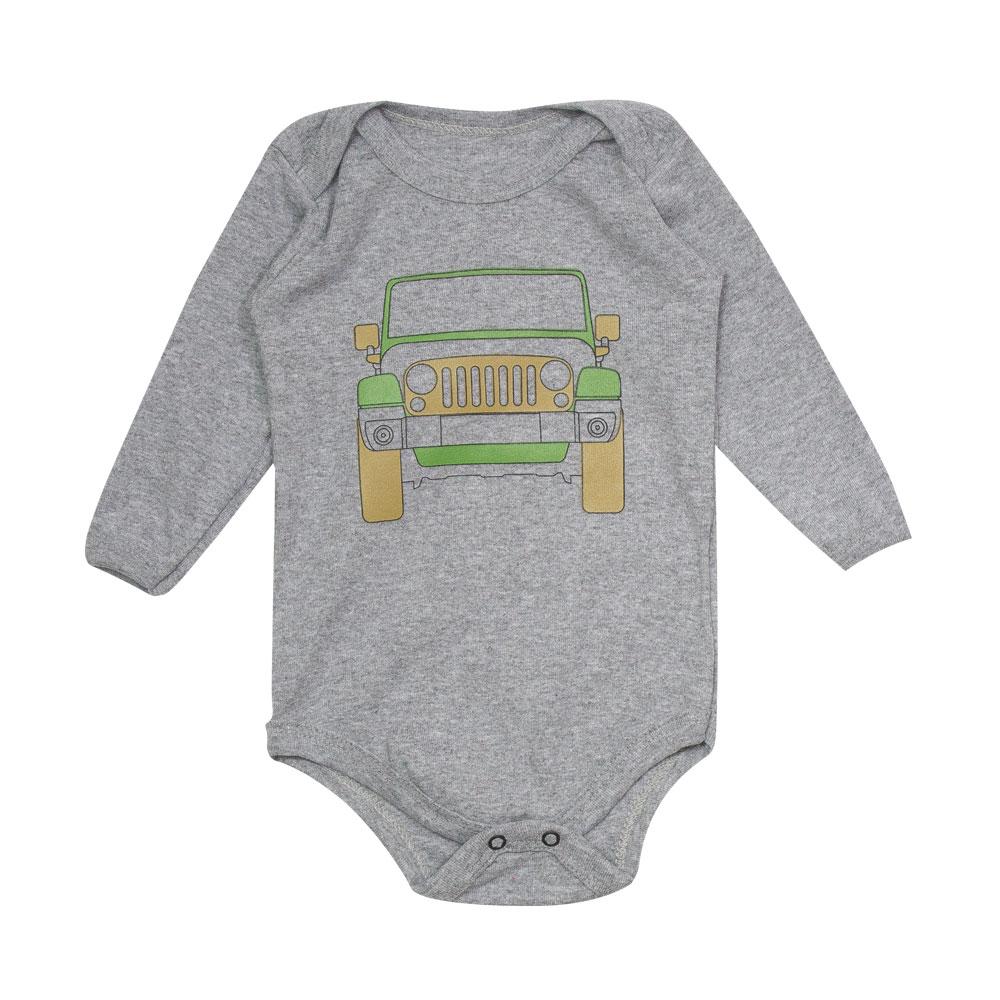 Body Bebê JEEP Wrangler - Cinza Mescla
