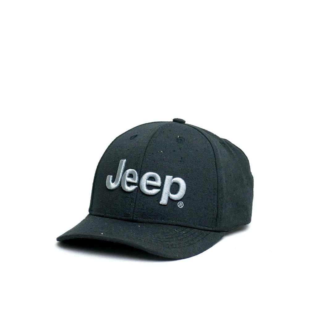 Boné Clássico JEEP Logo Bordado Ecológico - Preto