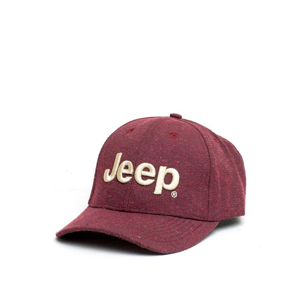 Boné Clássico JEEP Logo Bordado - Ecológico - Vinho