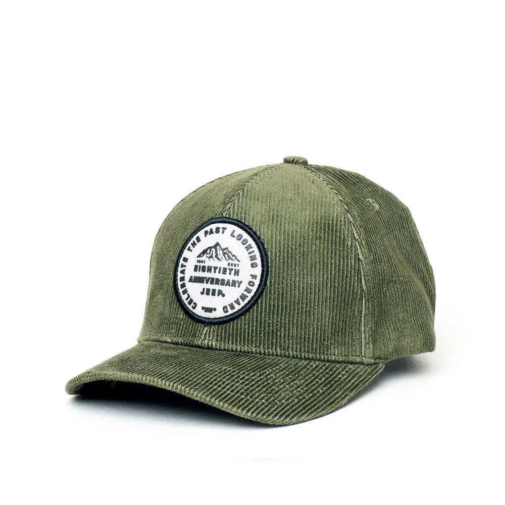 Boné Dad Hat JEEP 80th Anniversary Veludo - Verde