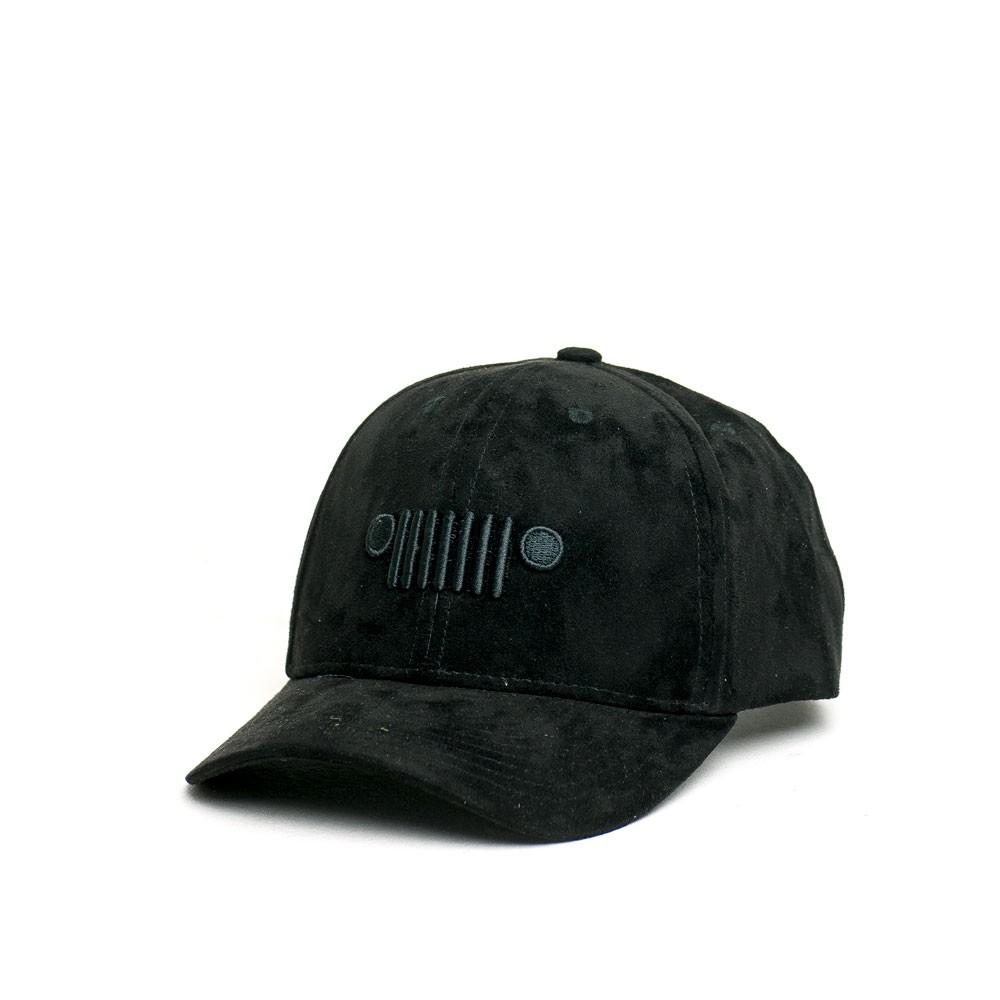 Boné Dad Hat JEEP - Grade - Bordado EVA - Suede - Preto / All Black