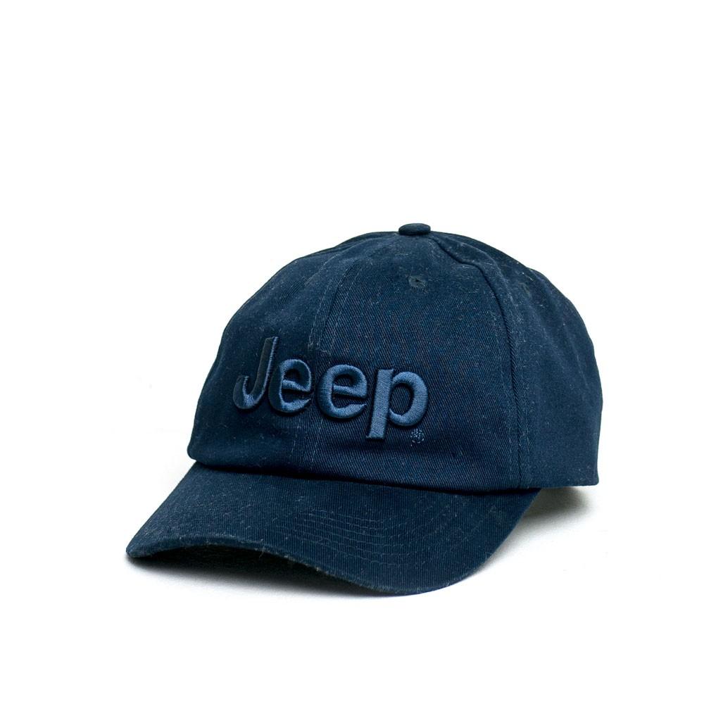 Boné JEEP Dad Hat Logo Bordado - Azul Marinho