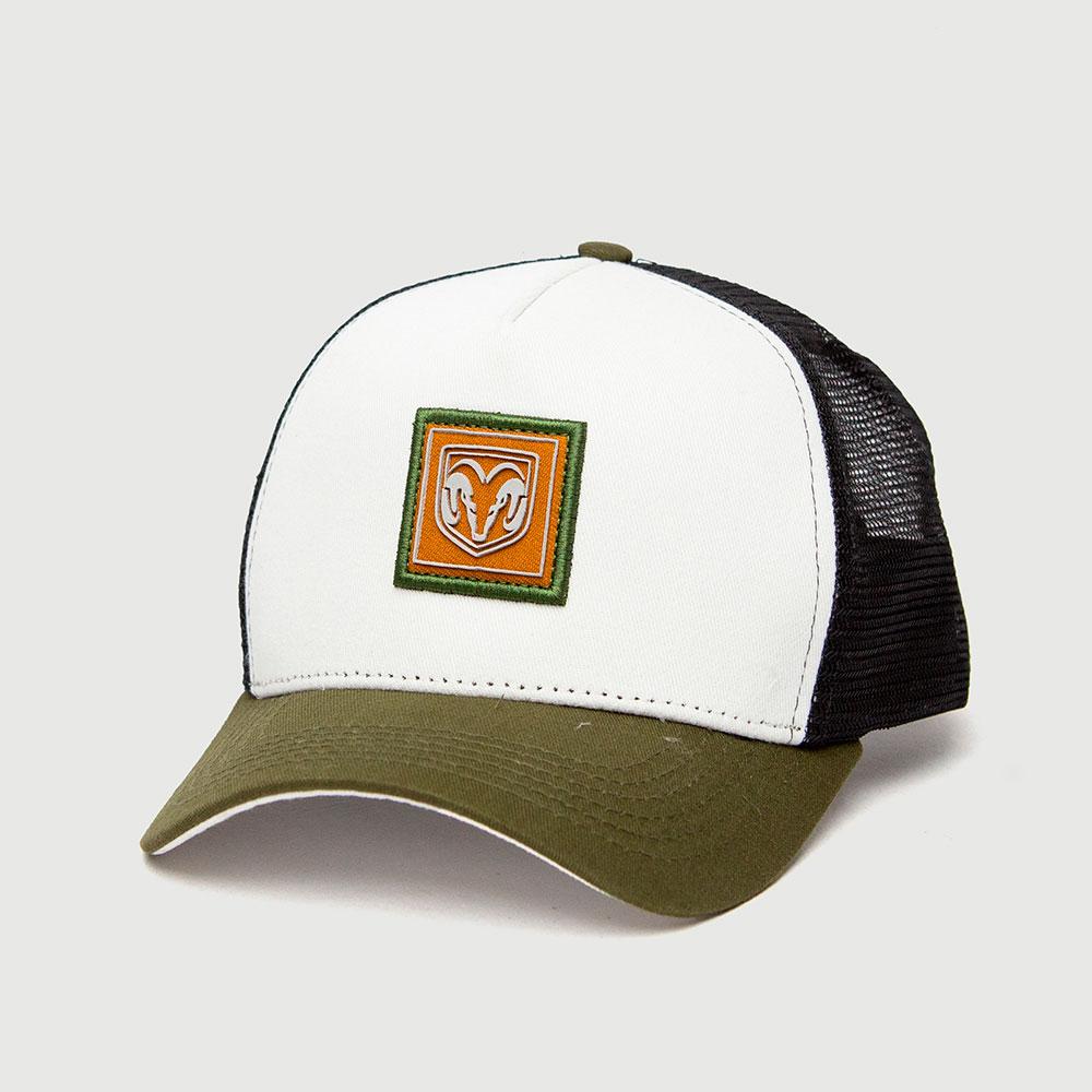 Boné RAM Trucker Branco - Patch