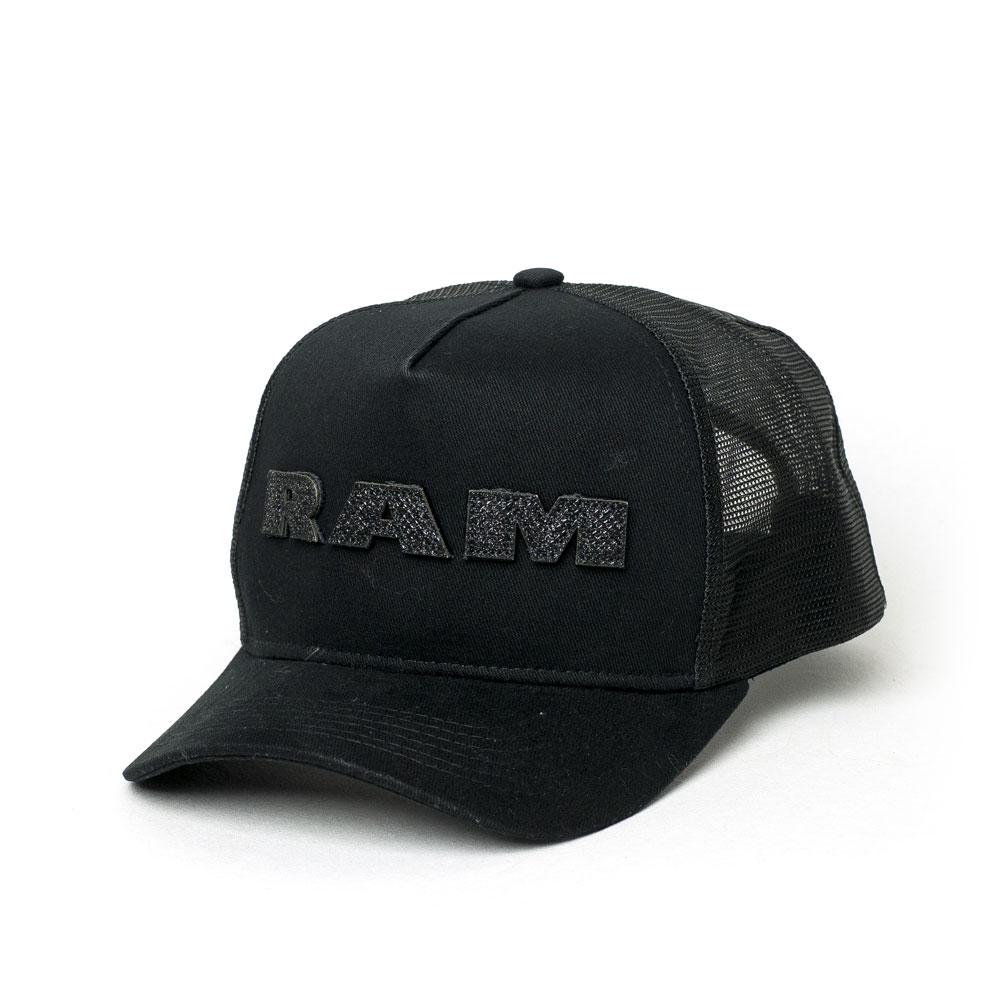 Boné RAM Trucker Glitter Lettering - Preto