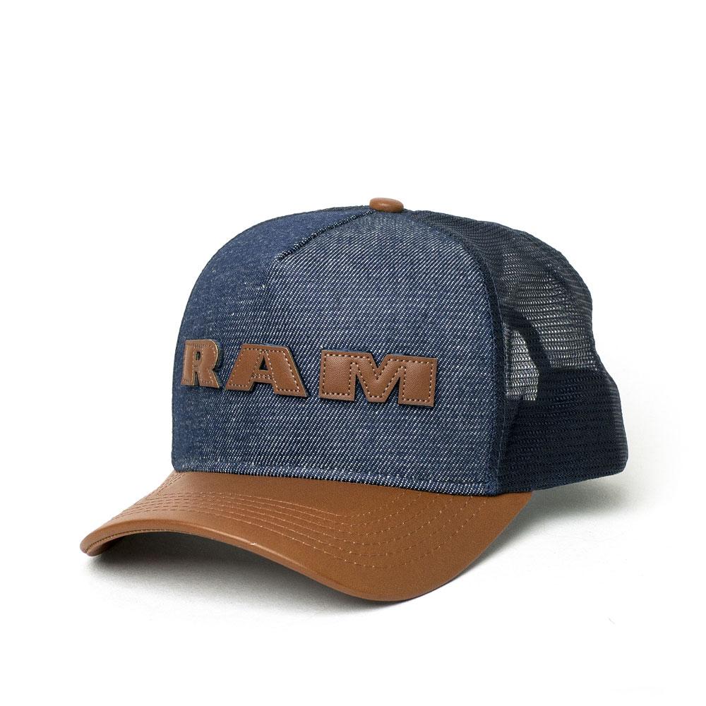 Boné RAM Trucker Lettering - Jeans/Caramelo
