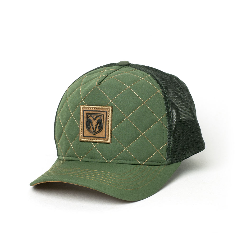 Boné RAM Trucker Line Pattern - Verde Musgo