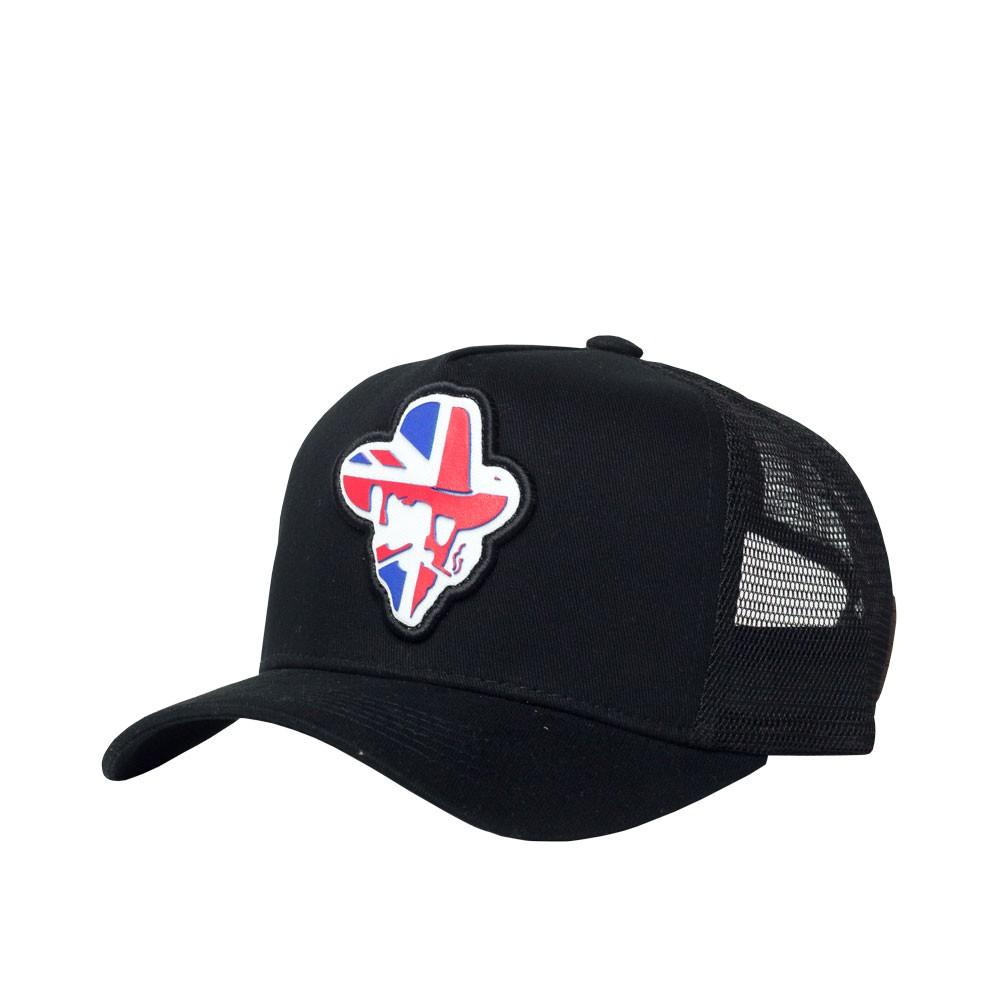 Boné Trucker Vim Du Mato - Logo UK - Preto