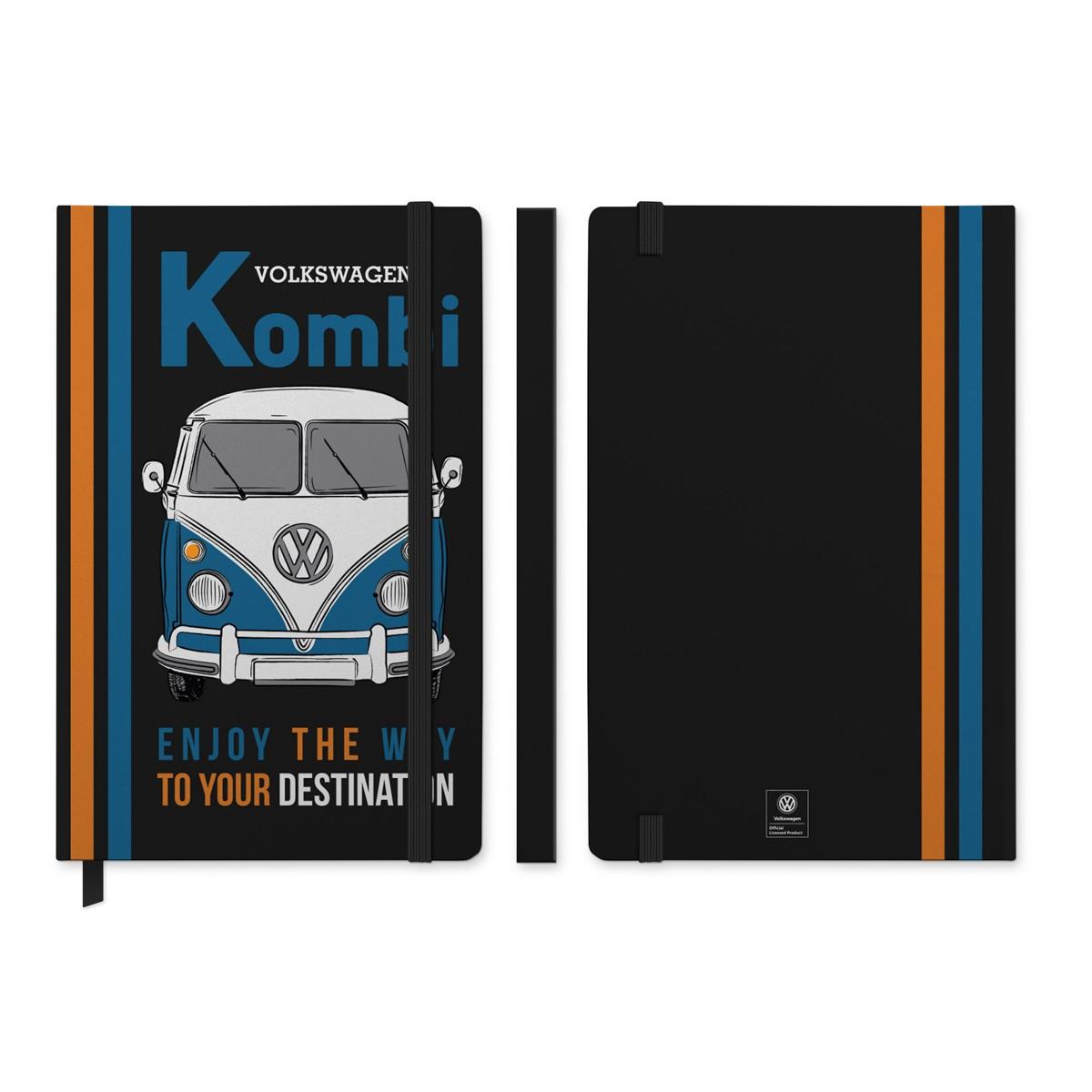 Caderneta de Anotação VW - Kombi Enjoy the Way - Preto - 96 folhas