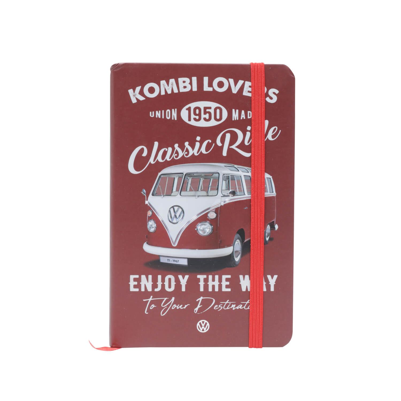 Caderneta de Anotação VW - Kombi Lovers - Vermelho - 96 folhas