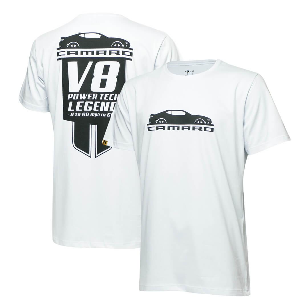 Camiseta Masc. Chevrolet Camaro Legend - Branca