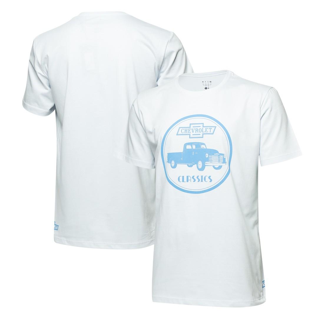 Camiseta Masc. Chevrolet Classics 1914 - Branca
