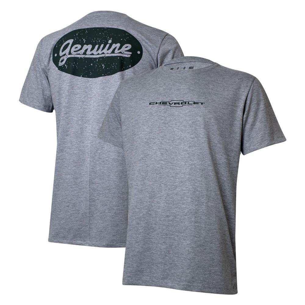 Camiseta Masc. Chevrolet Genuine - Cinza Mescla