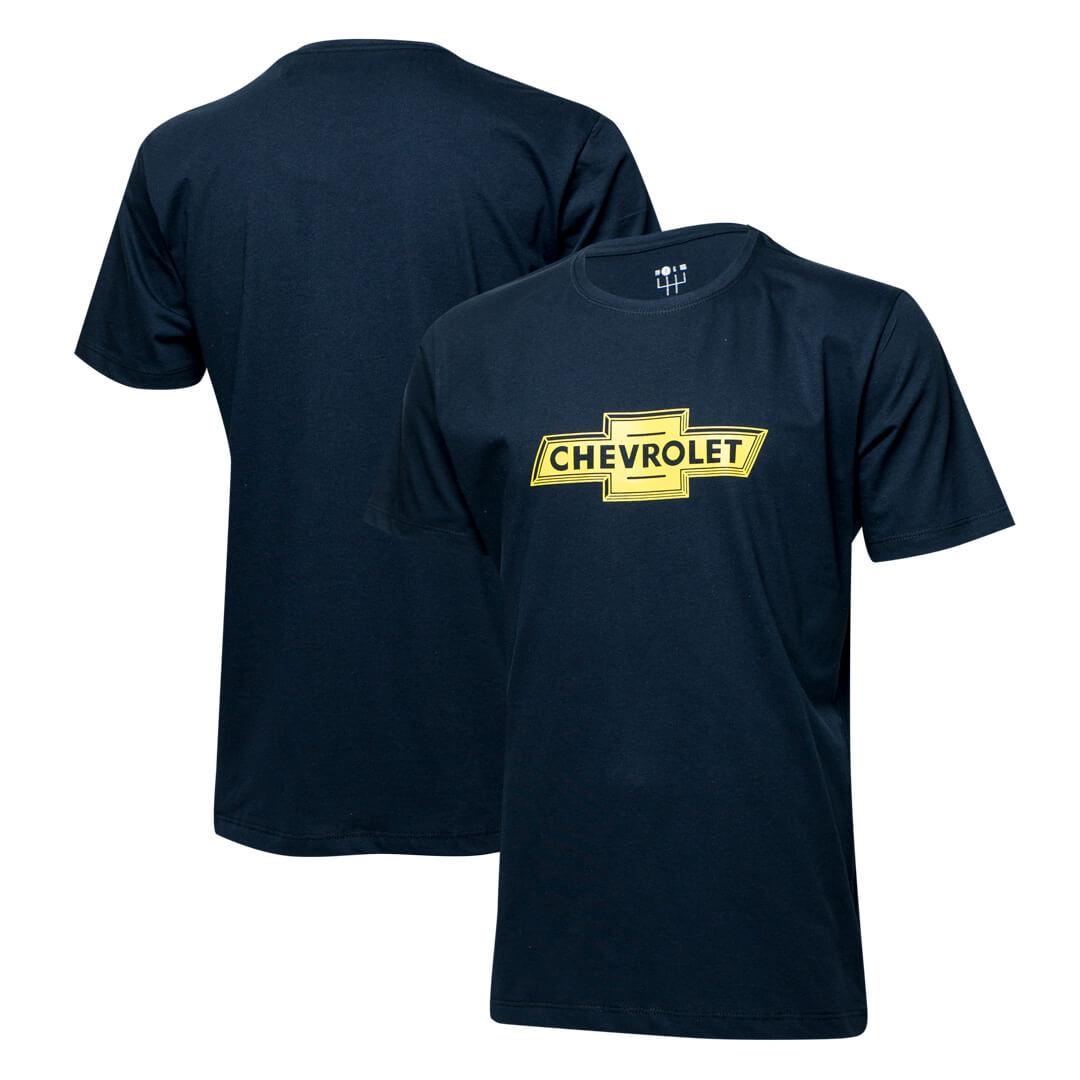 Camiseta Masc. Chevrolet Logo - Azul Marinho