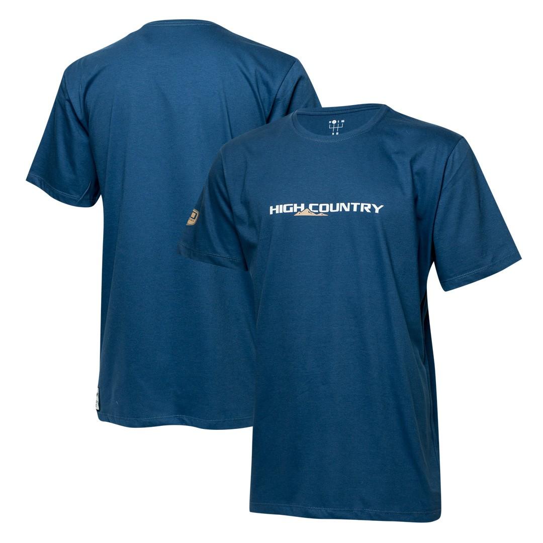 Camiseta Masc. Chevrolet S10 High Country Lettering - Azul Marinho
