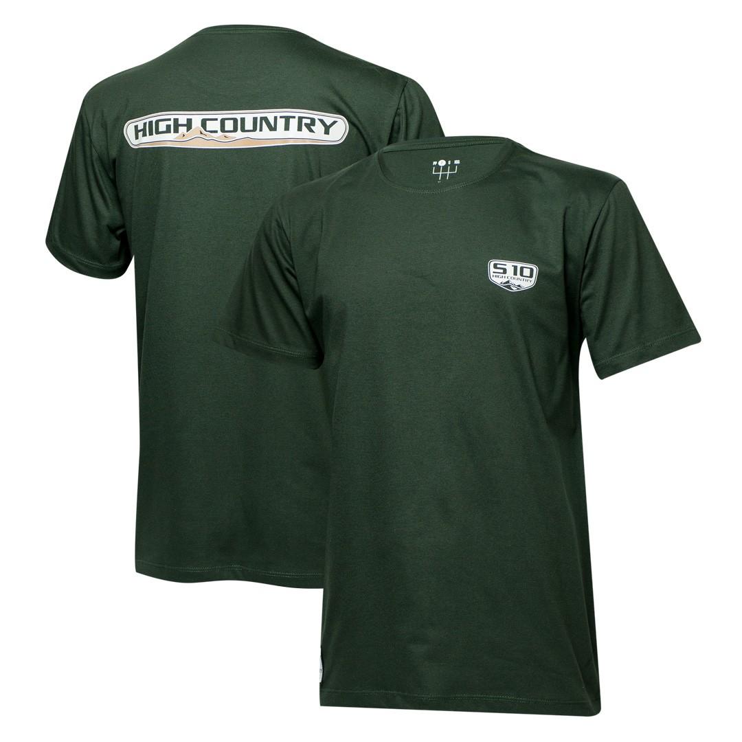 Camiseta Masc. Chevrolet S-10 High Country - Verde