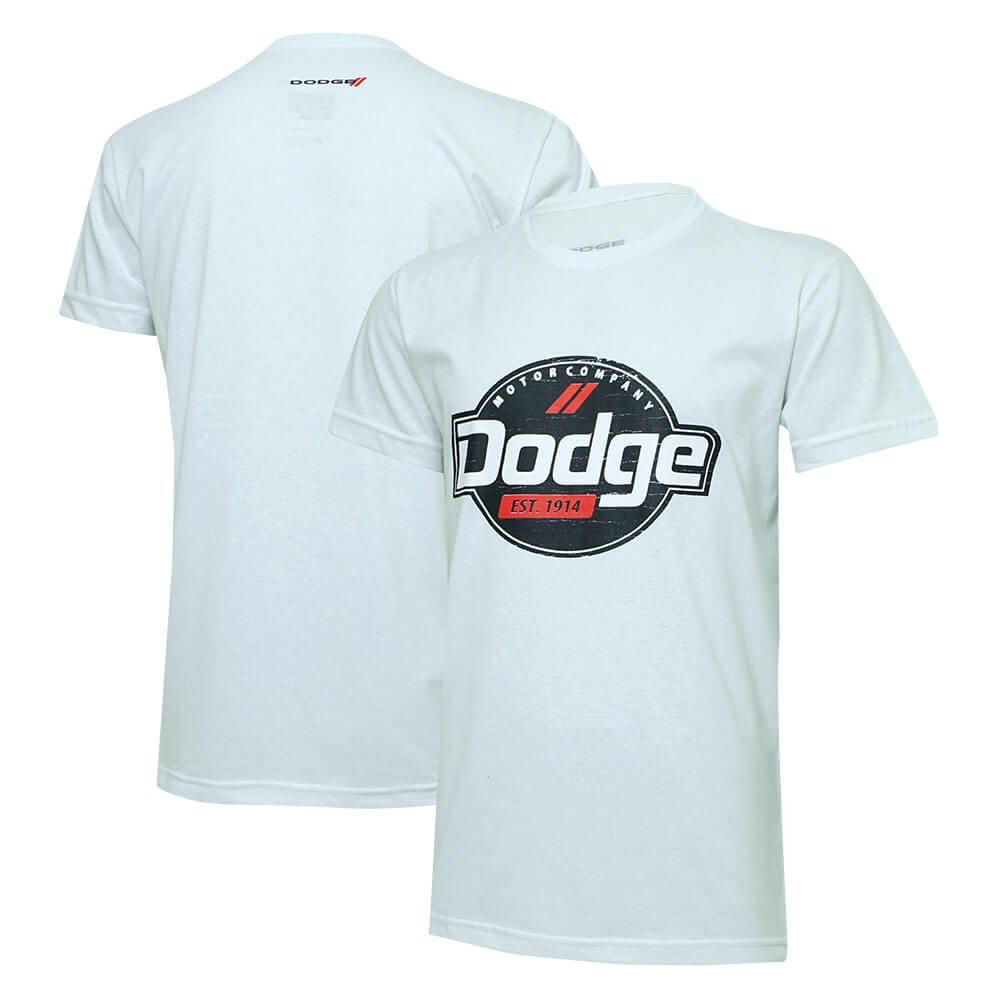 Camiseta Masc. Dodge Motor Company - Branca